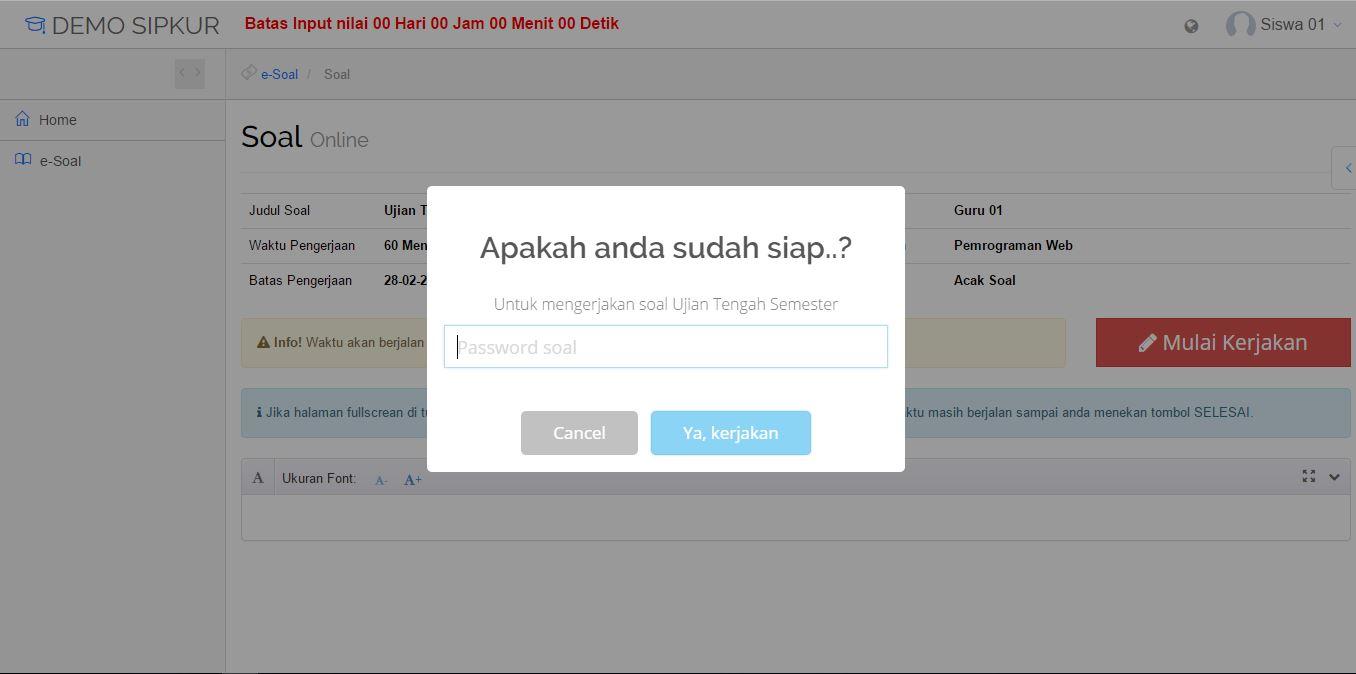 Modul Ujian Online