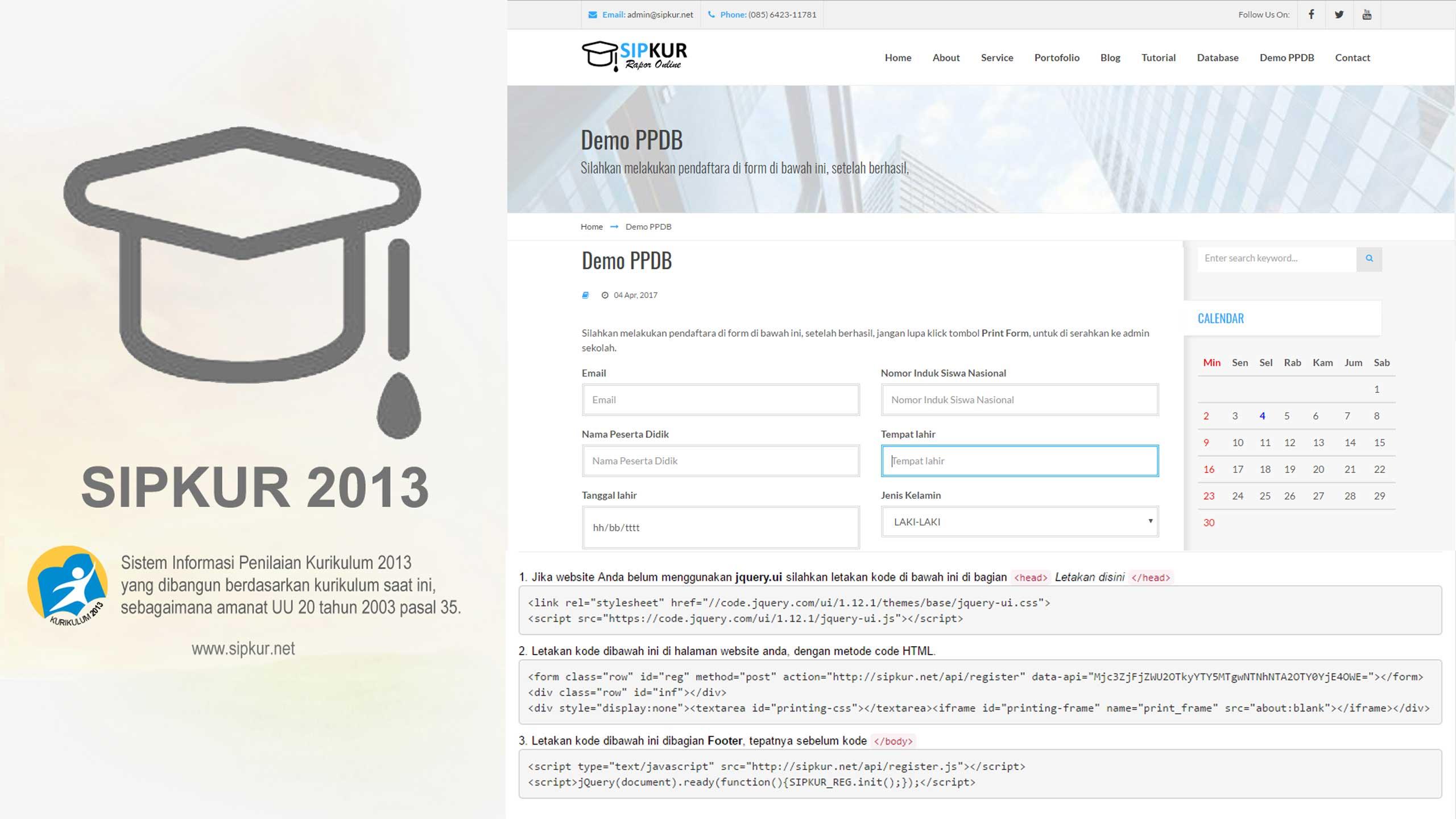 Cara Pasang Modul PPDB di Website